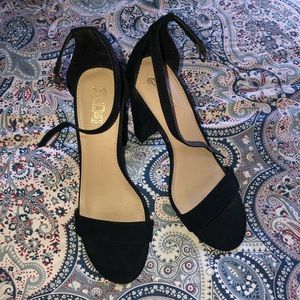3 inch Black block heels